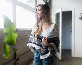 Atmen Knitting Shawl Pattern Triangular Textured Modern Ribbed Lace PDF