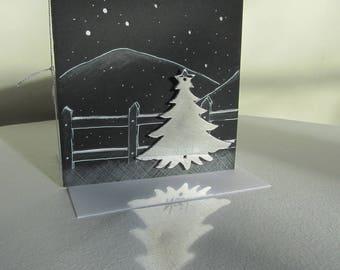 Exemplary unique Christmas card (handmade)
