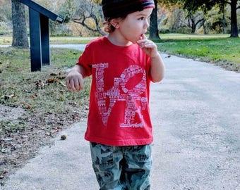 FREE SHIPPING -- LOVE  -- Paul Carpenter Art -- Toddler and Kids T-Shirt