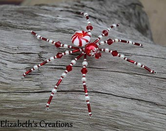 Christmas Spider Ornament with Christmas Spider Legend, Spider Ornament, Holiday Ornament, Christmas Ornaments Peppermint Spider
