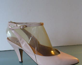 Vintage Marco Brelli Made in Italy  Ankle Strap Pumps Size 8M  US