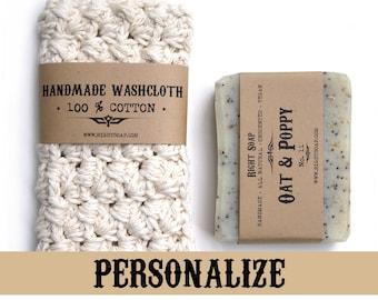 Stocking Stuffer Soaps Washcloth Mens Gifts For Women Christmas Gift Set