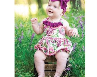 BABY Sommer Romper, Dress, Top & Bloomer PDF Sewing Pattern Newborn- 24 months