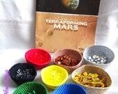 Terraforming Mars; Set de bols paniers au crochet en coton couleurs assorties Fait main; Jeu de plateau; ; kit rangement jeux de société