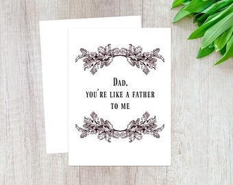 Funny Fathers Day Card, Father to Me Card, Funny Card for Dad, Fathers Day Card from Daughter, Dad Card from Son, Dad Card, Men Bday Card