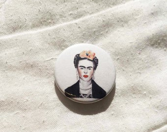 Frida Kahlo Illustration Pin Badge