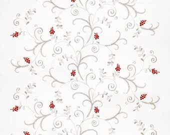 Christmas tablecloth white silver grey Christmas tree Noel decor Modern Scandinavian Design runner napkins , pillow , curtains , great GIFT