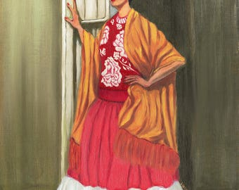 Frida Standing in a Doorway | Fine Art Print