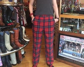 "Vintage Red Plaid ""Boyd Tartan"" Pendleton Women's Size 14"
