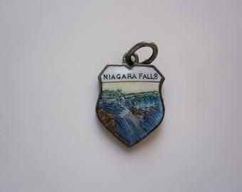 Vintage Antique Niagara Falls Charm Waterfall Charm Pendant
