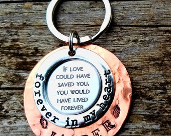 Personalized Pet Memorial Personalized Pet Memorial Keychain If Love Could Have Saved You, You Would Have Lived Forever, Forever In My Heart