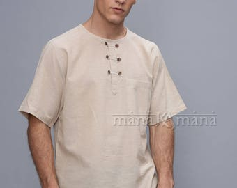 Men's T shirt - Summer ethnic shirt - kurta