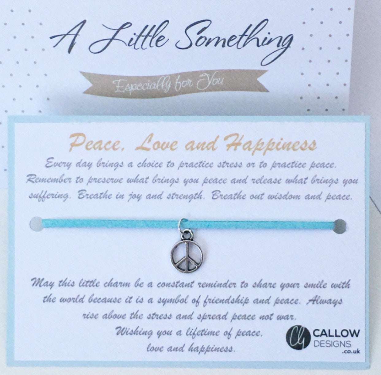 Peace Love And Happiness Quotes Peace Love And Happiness Greetings Card And Charm Bracelet