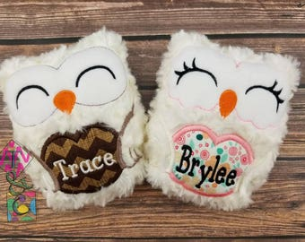 Personalized Owl Stuffed Animal - Baby Gift - Personalized Owl -  Owl with Name - Soft Owl - Plush Owl - Cream Owl - Stuffie - Baby Shower