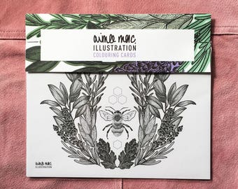 Aimee Mac Illustration Colouring in Cards - Pack of Four!