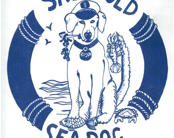 Salty Old Sea Dog - Original painting by Kate Cooke for Port and Lemon