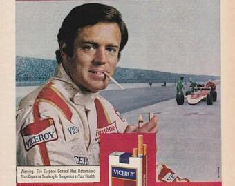 1976 Advertisement Viceroy Cigarettes Racing Race Car Tobaccoana Retro Vintage Wall Art Decor