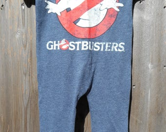 Gostbusters Movie Children's Upcycled/recycled t-shirt romper size 12 months