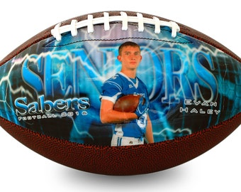 Custom Made Football - Football Player Gift, Football Coach Gift, Personalized Football, High School Senior Night Gift, Custom Football Gift