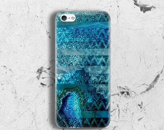 Teal turquoise case for iPhone SE Case for iPhone 5 Case for iPhone 5s Case glitter for iPhone 5c Case ocean shimmer for iPhone 4s
