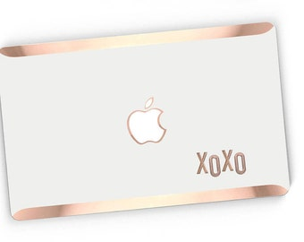 XoXo Stikē - Embossed Rose Gold Letters Decal and Monogram - Touch of Personality and glamour for your Macbook -  Platinum Edition - Stike