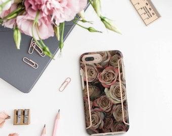 Rose Rustique and Rose Gold Case Otterbox Symmetry iPhone 6 / iPhone 7 / iPhone 8 / iPhone X PopSocket & WizGear Optional - Platinum Edition
