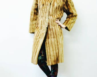 Vintage 1920's Musquash Fur Coat