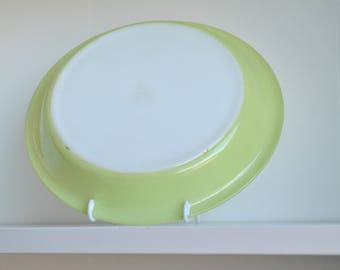 "Vintage PYREX Pie Plate Dish #209 LIME GREEN 9 1/2"""