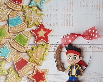 Jake the Pirate Christmas Ornament, Izzy Christmas Ornament, Personalized Christmas Ornament