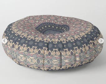 Floor Cushions, Grey Large Pouf, Floor Pillow Cushion, Round Floor Cushions, Mandala Floor Pillow, Mandala Cushion, Indian Cushions