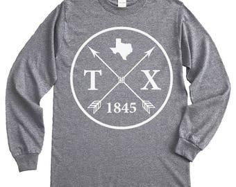 Homeland Tees Texas Arrow Long Sleeve Shirt