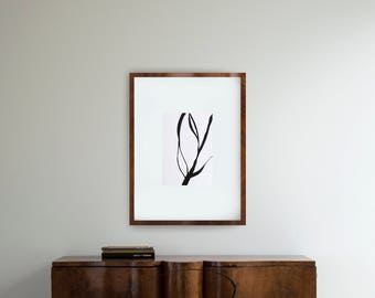 Minimalist abstract art black and white, modern tree abstract ink art, minimal ink art, nature, abstract art, linear, abstract wall art, art