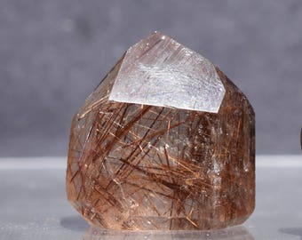 Rare Rutile Included Quartz Crystal | Polished Rutilated Quartz Crystal Point- Brazil