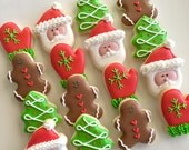 24 Mini Merry Christmas Cookies!