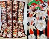 Hikizuri kimono red black...