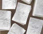 2018 letterpress desk calendar (pre-sale)