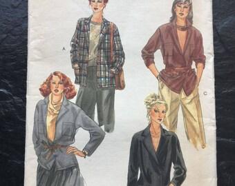 Vintage 1980s Jacket Pattern // Vogue 7143 > sizes 12 > Unused > oversized, pockets
