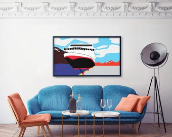 The Coastal Steamer II Art Print
