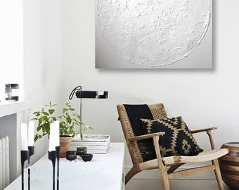 White painting / Home Decor / Wall Decor / Minimalist Art / Abstract Art / Modern Wall Art / Large Wall Decor / Gift for Her/ White Abstract