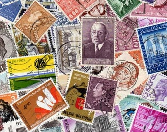 50 Diff BELGIUM Stamps, Belgium Postage Stamps, Stamp Collection,stamps, Postage Stamps, Stamps, Postage Stamps
