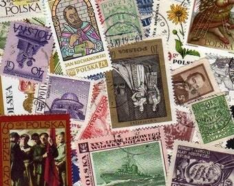 50 Diff Poland Stamps, Polish Stamps, Polish Postage Stamps,Stamps.\, Polska Postage Stamps, Polska Stamps, Poland,