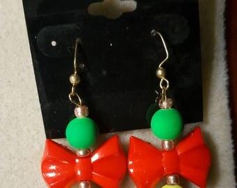 Beautiful bow earrings