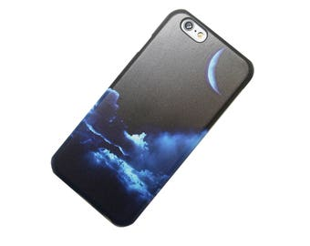 Night Clouds, Crescent Moon, iPhone Case iPhone 5, SE iPhone 6 iphone 7, iPhone 6 Plus, iPhone 7 Plus, Galaxy S7, Note 5, iPhone 5c, Gift