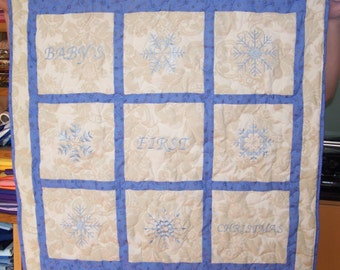 Baby Boy's Christmas Quilt