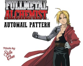Edward Elric Automail Arm Full Metal Alchemist Instructional Pattern for Cosplay