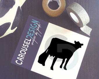 Dairy Cow Vinyl Sticker - Opt 3