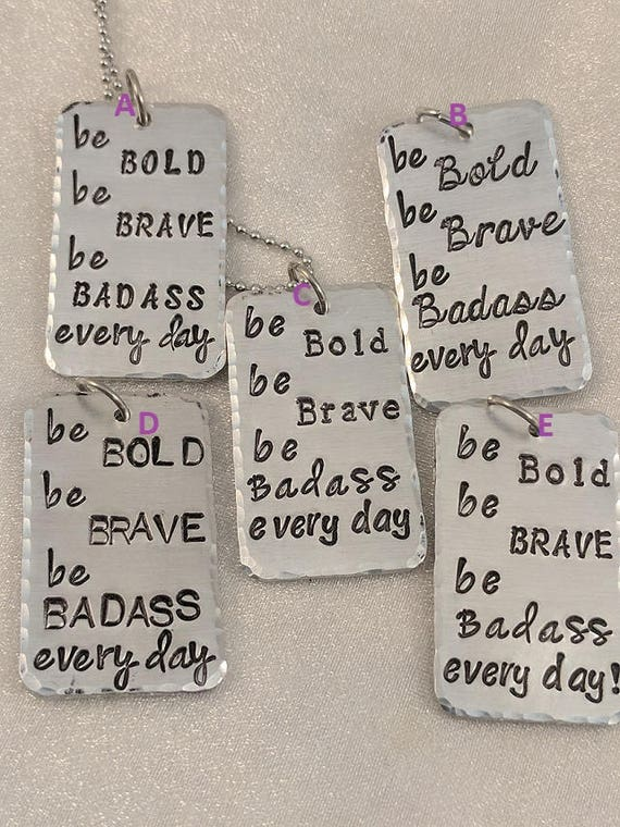 Be Bold Be Brave-Be Bold Necklace-Statement Jewelry-Saying Necklace-Motivational Necklace-Encouragement Jewelry-Ready To Ship-Sold As Is