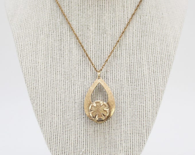 Vintage 1950s Gold Plated Watch Necklace