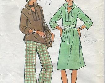 """Butterick 4125  Misses' Dress, Tunic, Pants & Belt   SIZE 18  BUST 40"""""""