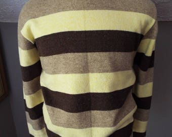 Vintage Mens Long Sleeve Striped Sweater